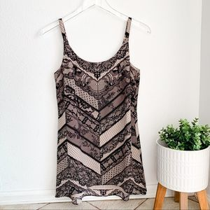 Cabi XS black lace printed tunic/dress